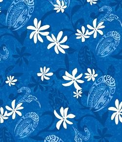 Ponytail 2 - 153 Maeva Poehere Blue scrub hat