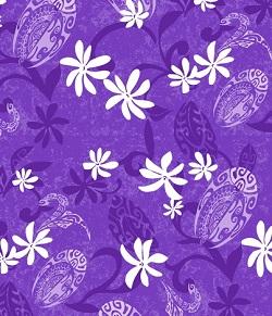 Bouffant - 154 Maeva Papeete Purple scrub hat