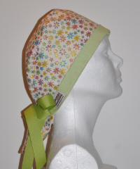 Tiny Flowers Scrub Hat